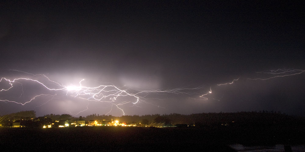 Lightning Over Mendocino on Garth Hagerman Photo/Graphics
