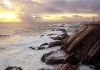 Point Arena Light in seascape photo gallery