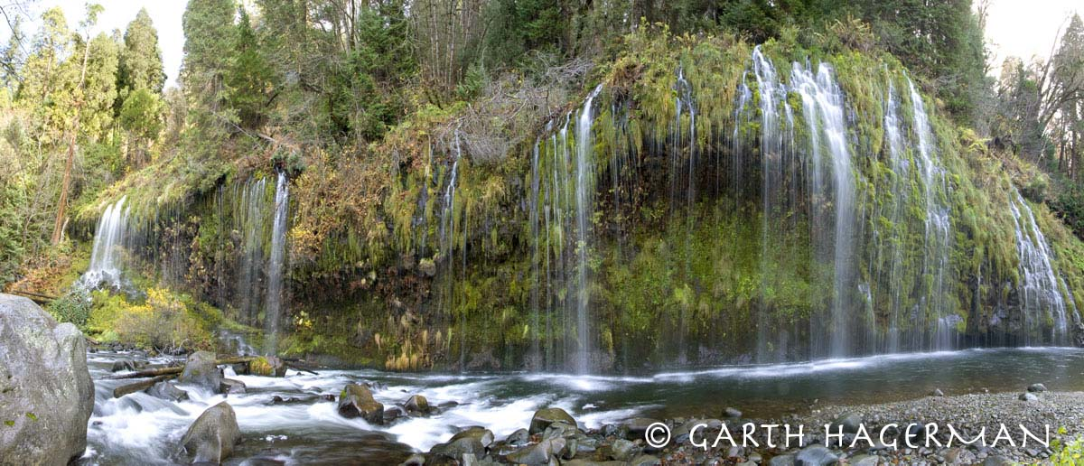 Mossbrae Falls in Inland Northern California photo gallery