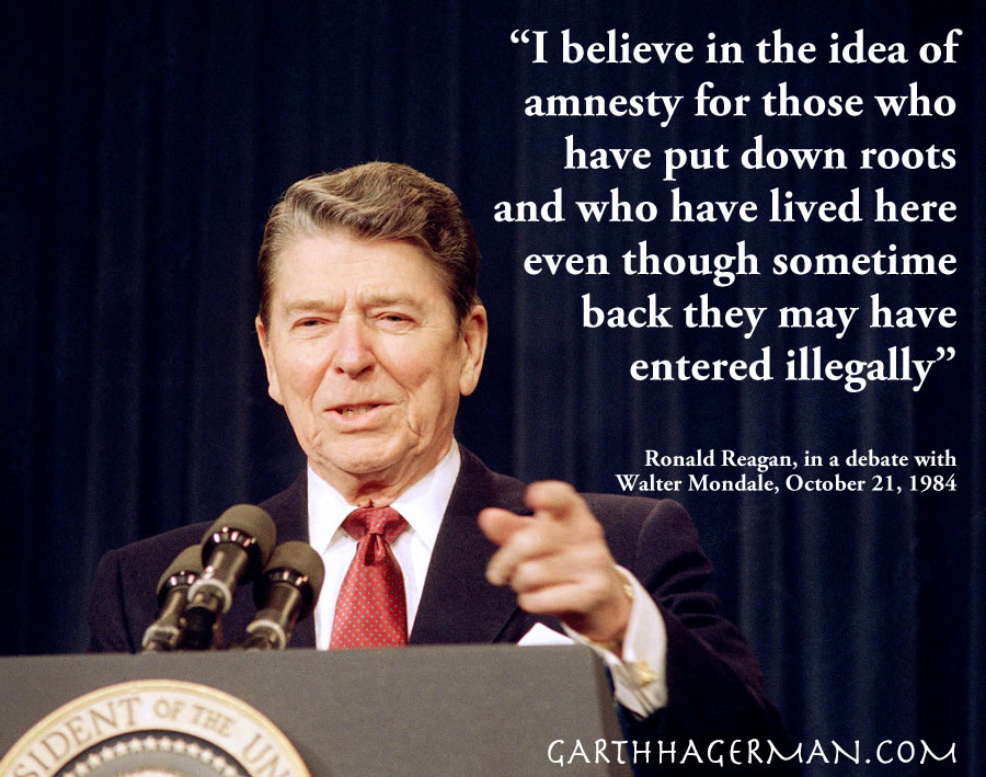 ronald reagan advocates amnesty for illegal immigrants