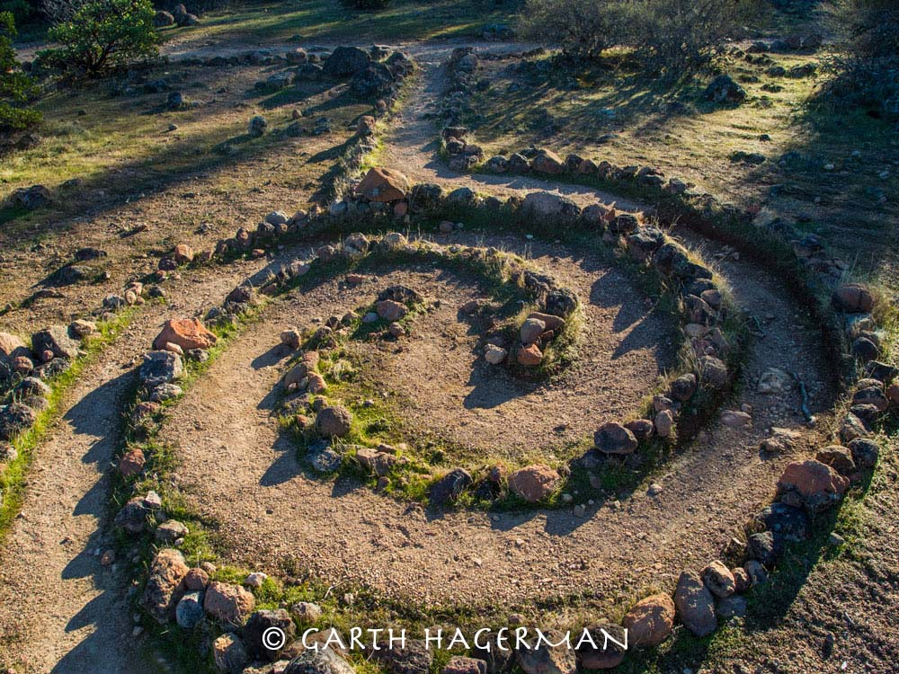 Spiral Labyrinth in Inland Northern California photo gallery