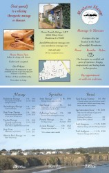 Brochure for Mendocino Massage in Print Design photo gallery