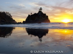 Hidden Beach Sunset in reflections photo gallery