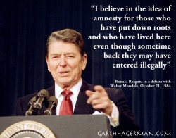 Reagan on Illegal Immigrants in graphic design photo gallery