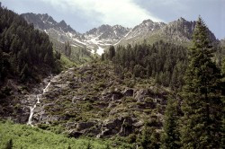 Trinity Alps in waterfall photo gallery