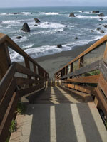 Beach Stairs in seascape photo gallery