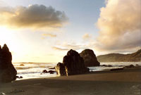 Howard Creek Beach Sunset in seascape photo gallery